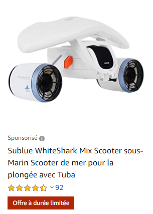 magnifique scooter sous marin