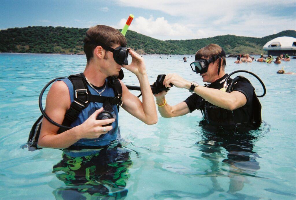 materiel de plongée sous marine